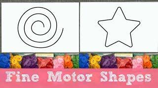 Fine Motor Shapes For Preschool and Kindergarten