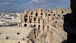 El Djem (El Jem) Roman ampitheatre in Tunisia HD Video