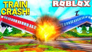 ROBLOX TRAIN SIMULATOR! *WORLD'S BIGGEST TRAIN CRASH*