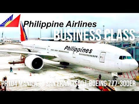 PHILIPPINE AIRLINES BUSINESS CLASS MANILA TO SAN FRANCISCO P