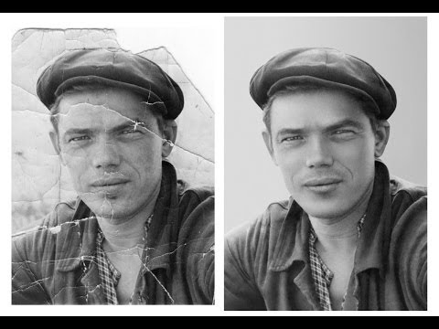 Реставрация старой фотографии в Photoshop. Видеоурок.
