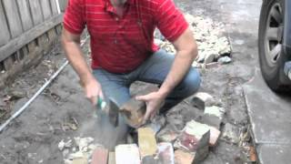 Cleaning house bricks for reuse