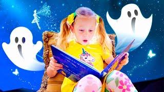 Nastya e história de ninar sobre o papai sonâmbulo