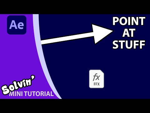 Create an Arrow / Pointer preset for After Effects