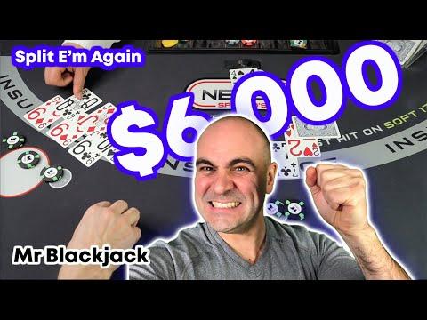 Split E'm Again Mr Blackjack - $6000 Win