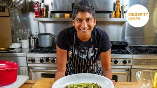 Celebrity Chefs Recipes: Preeti Mistry's Curry Leaf Ginger Brussels Sprouts