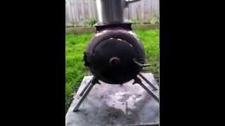 My First Gas Bottle Wood Stove - Aquaponics