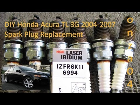 diy acura honda tl 2004 2007 3g j32a spark plug replacement by rh youtube com 04 acura tl spark plug replacement 2004 Acura TL Service Manual