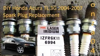DIY Acura Honda TL 2004-2007 3G J32A Spark Plug Replacement by onza04