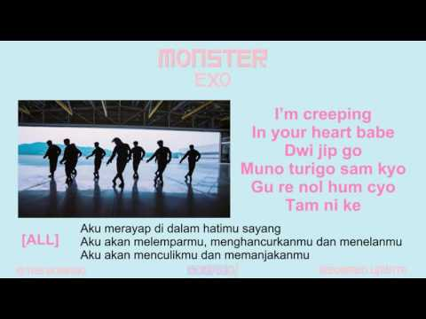EXO - MONSTER [MV, EASY LYRIC, TERJEMAHAN LIRIK INDONESIA]
