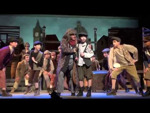 Johnny DiGiorgio as Oliver performing in Pick a Pocket or Two in Oliver!