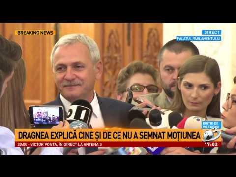 Liviu Dragnea, declaraţii după citirea moţiunii