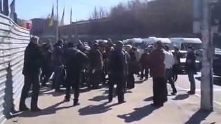 Запорожье разгром пророссийской автоколонны в Запорожье!
