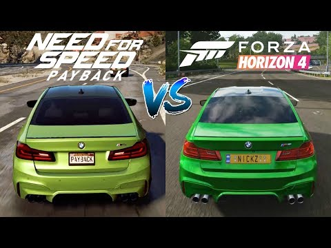 Forza Horizon 4 vs Need For Speed Payback | Cars Engine Sounds Direct Comparison |