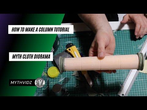 Myth Cloth Diorama │HOW TO MAKE a Column Tutorial