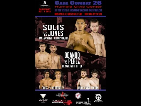 Casey Jones vs Jose Solis Combat cage 26 Championship garcia promotions