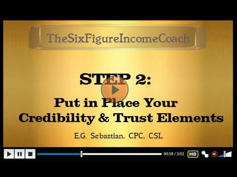 TheSixFigureIncomeCoach.com - How to Become a Credible and Trusted Professional Coach