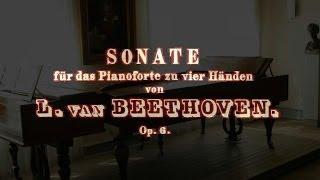 sonata para piano a 4 manos en re mayor op 6 ludwig van beethoven