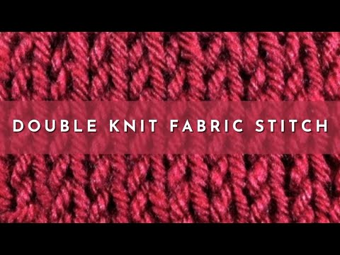 How To Knit The Double Knit Fabric Stitch English Style Youtube