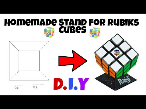 How To Make a Stand For Rubiks Cubes | Cube Stand | D.I.Y | Hindi/Urdu | Rubiks Cube In Pakistan