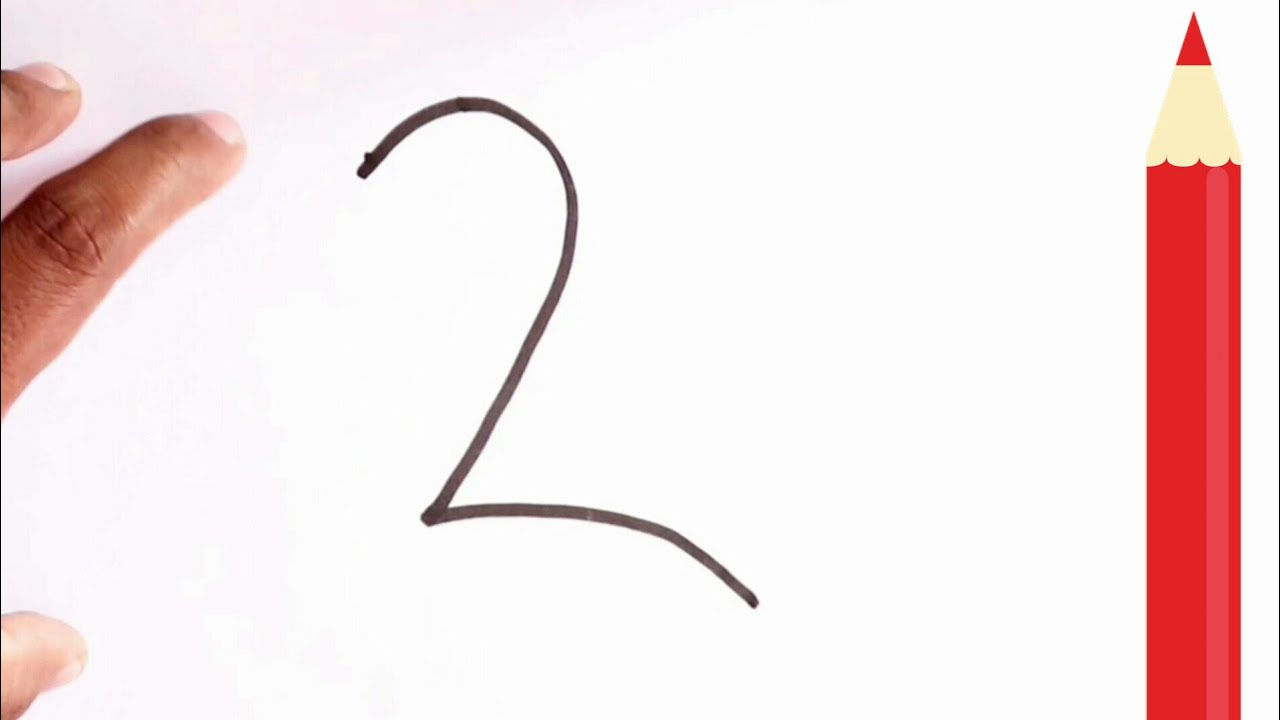 Easy Drawing ! How 2 Number Turns to Beautiful Peacock - step by step very  easy