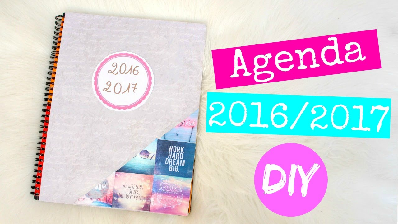 Diy agenda 2016 2017 inspire par pinterest back to school 2 concours