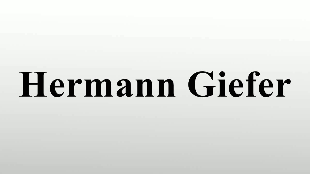Hermann Giefer Sofia Giefer