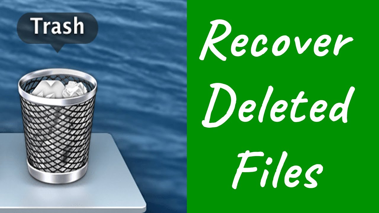 How To Recover Deleted Files From The Trash On Mac Youtube