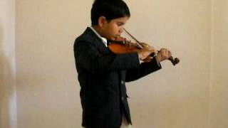 Jagan playing Indian National Anthem in Violin