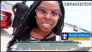 Boarding Oasis of the Seas Cruise Ship | Embark + Exploring Huge Ship + Meet up thumbnail