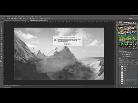 Landscape Speedpaint Part 1 (Black&White) | Adobe Photoshop CS6