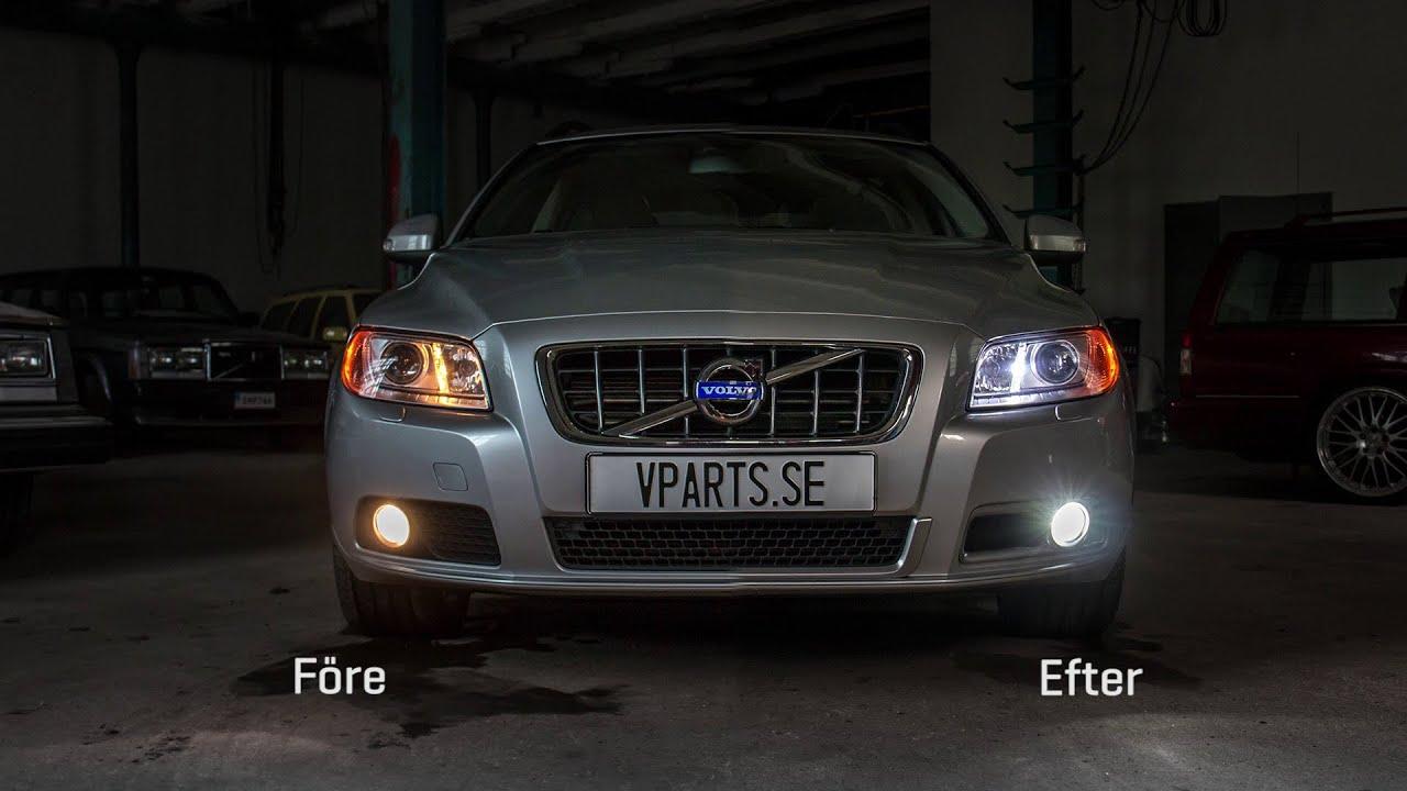 Montering stylingpaket Volvo V70 08- (LEDs dim- & parkeringsljus, dimljusgaller, dekorlist ...