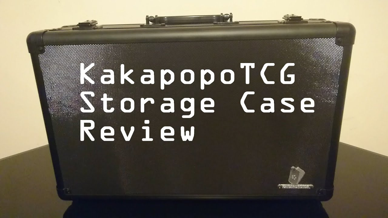 Kakapopo TCG Storage Case Review   Trading Cards, Pokemon, Magic, Yugioh,  PSA, Beckett   YouTube