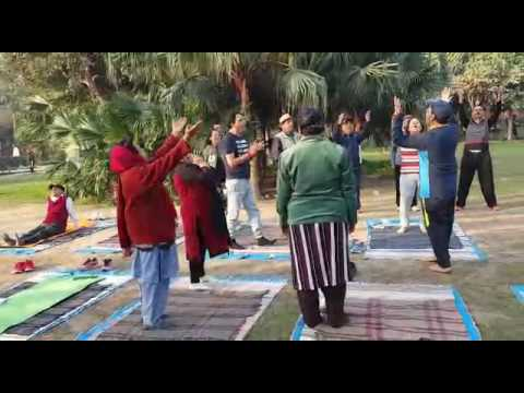 LAUGHING SOULS DOING LAUGHTER YOGA