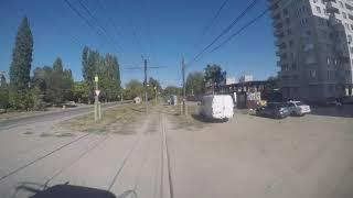 6 Дачная - Школа №52 - 6 Дачная из кабины трамвая