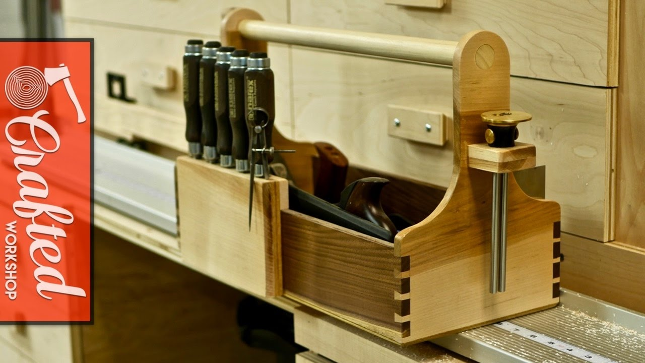 Hand Tool Tote with Hand Cut Dovetails | How To Build - Woodworking - YouTube