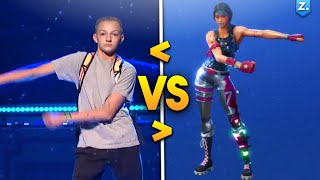 ALL *NEW* FORTNITE DANCES IN REAL LIFE! (Best Mates, Salty, And The Floss)