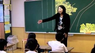 1年生で道徳授業を公開しました。主題名:どこでやめるか 資料名:かぼ...