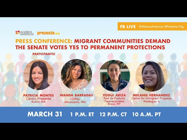 Migrant communities demand the Senate votes YES to permanent protections