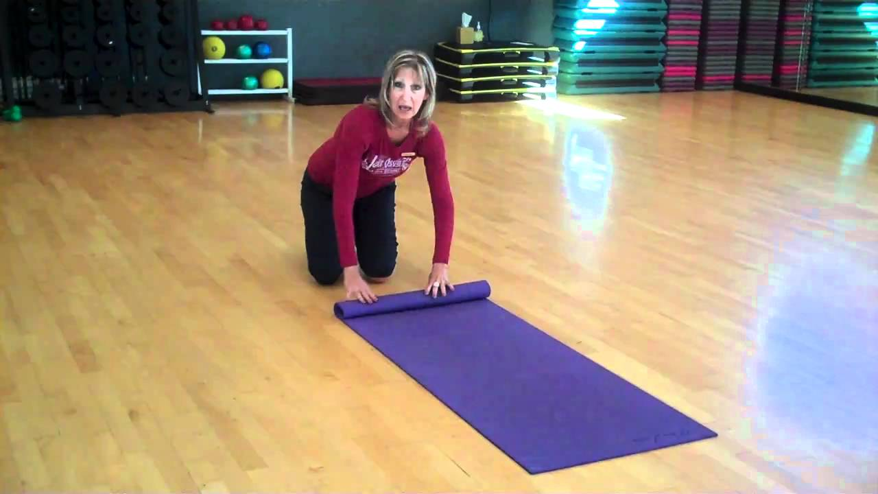 How To Roll Up A Yoga Mat Youtube