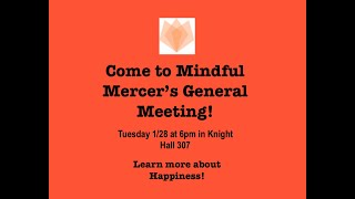 Learn to How to Be Happier with Mindful Mercer!