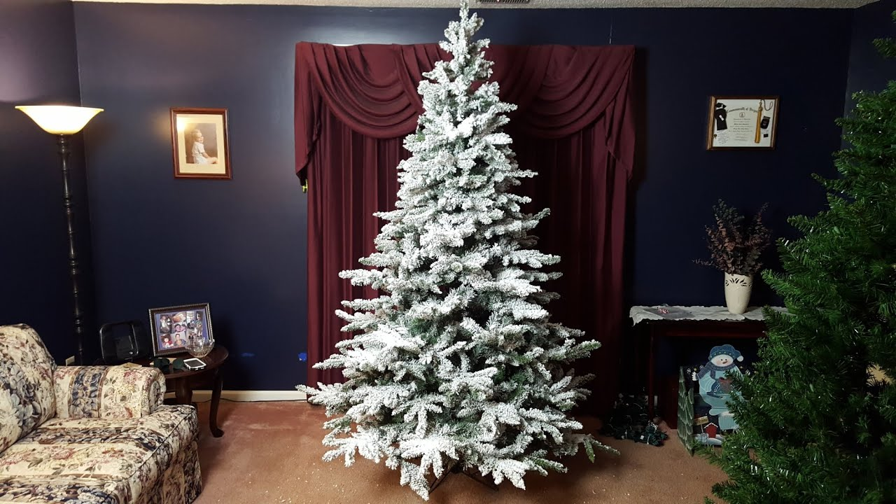 Vickerman Utica 7.5' Snow Flocked Christmas Tree review