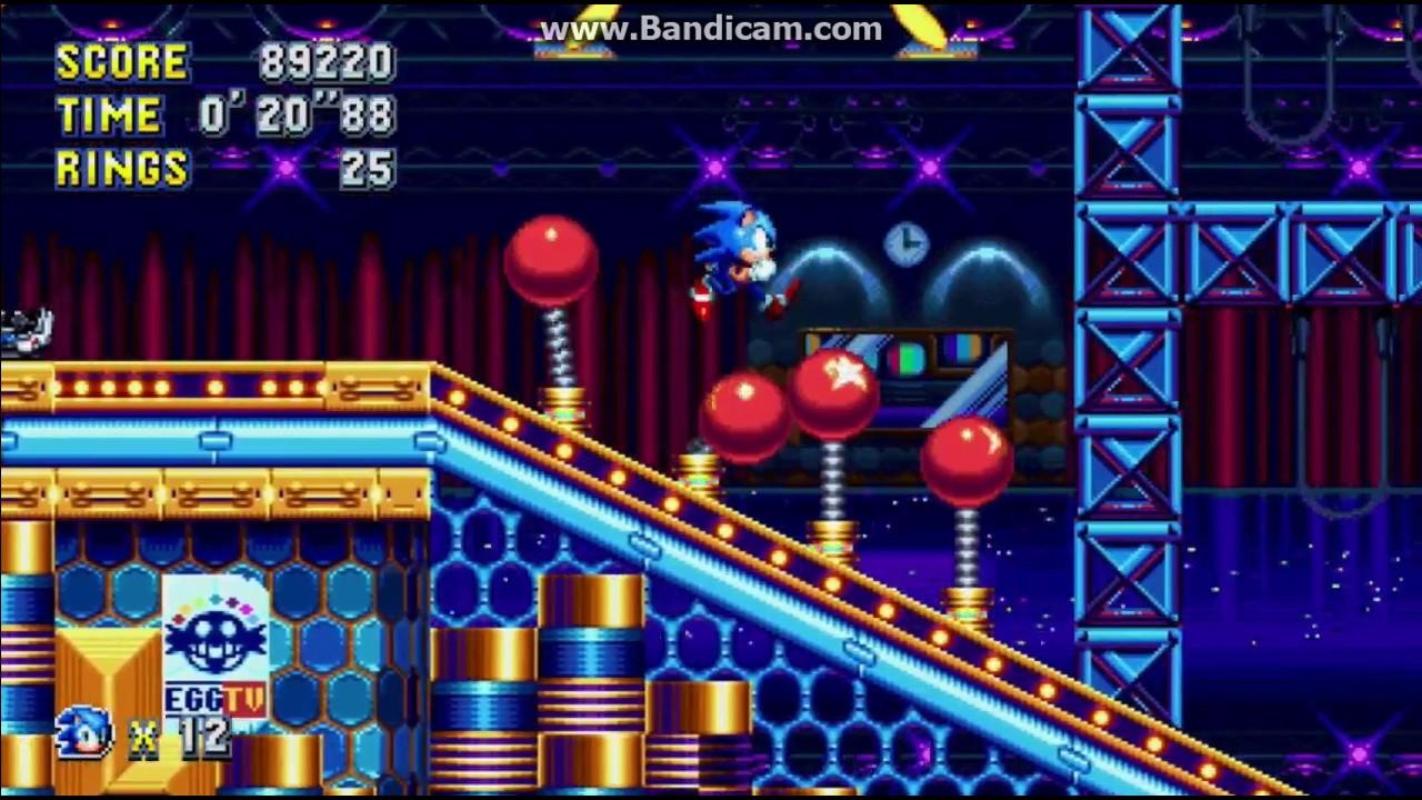 Sonic Mania : Studiopolis Act 2 gameplay