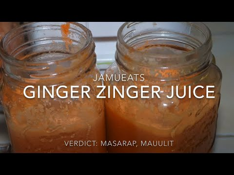 Ginger Zinger Juice ni Jamueats