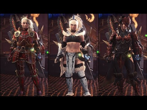 Monster Hunter World - All 102 Female Armor Sets & Outfits Showcase