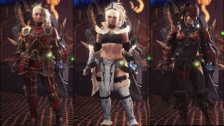 Video Monster Hunter World - All 102 Female Armor Sets & Outfits Showcase download MP3, 3GP, MP4, WEBM, AVI, FLV Agustus 2018
