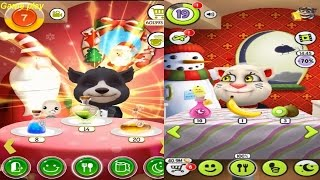 My Talking Tom Level 18  VS  BB Talking Bear Level 6 Gameplay Great Makeover for Children HD