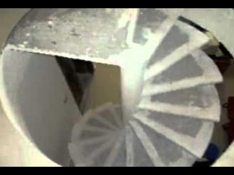 Escada caracol de concreto pr moldado youtube for Como trazar una escalera de caracol de concreto