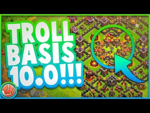 BESTE TROLL BASIS TER WERELD!!! TROLL BASIS 10.0!! - Clash of Clans