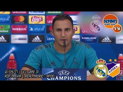(video) Real Madrid - Apoel Rueda de prensa Champions de KEYLOR NAVAS (12/09/2017)